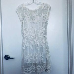 Like New Abercrombie Fitch White Lace Mini Dress M